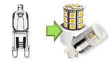 LED Lamp G9 230V halogeen vervangers
