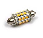 LED Lamp 12V, 2W, Festoon, Warmwit, rond, dimbaar