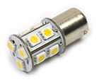 LED Lamp 12V, 2,2W, BA15D, Warmwit, rond, dimbaar