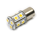 LED Lamp 12V, 2,2W, BAY15D, Warmwit, rond, dimbaar