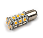 LED Lamp 12V, 3W, BA15S, Warmwit, rond, dimbaar