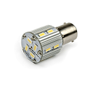 LED Lamp 12V - 24V, 3W, BA15D, Wit, rond