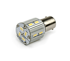 LED Lamp 12V - 24V, 3W, BAY15D, Wit, rond