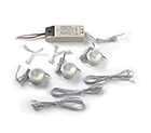 LED Mini spot Lamp, 3W, warmwit, dimbaar, wit, set