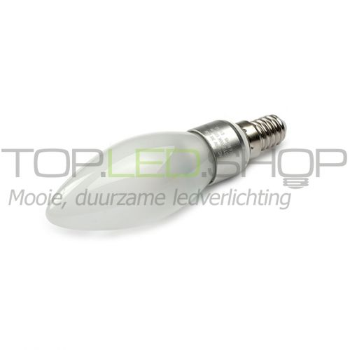 LED Lamp 230V, kaars, 3W, Warmwit, E14, dimbaar, mat