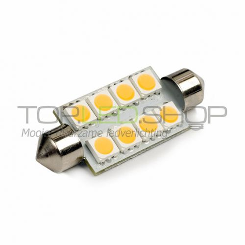 LED Lamp 12V, 1,6W, Festoon, Warmwit, vlak, dimbaar