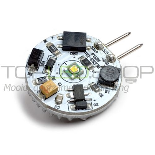 LED Lamp 12V, 1W, G4, CREE, Warmwit, horizontaal