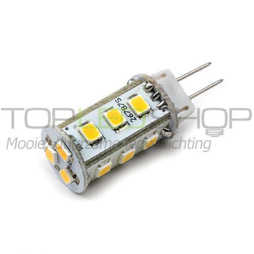 LED Lamp 12V, 2,4W, G4, Warmwit, rond, dimbaar