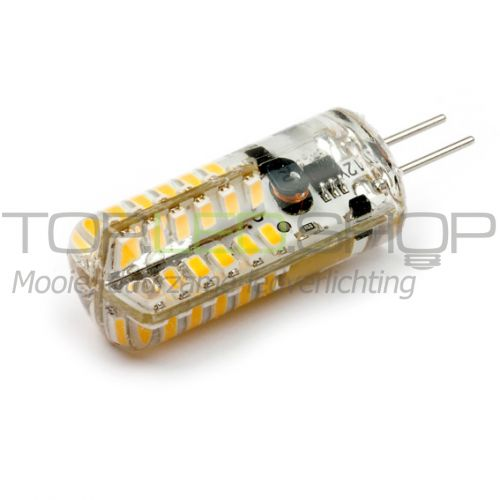 LED Lamp 12V, 1,3W, G4, Warmwit, rond, smal