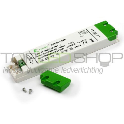 LED 30 Watt platte niet dimbare transformator
