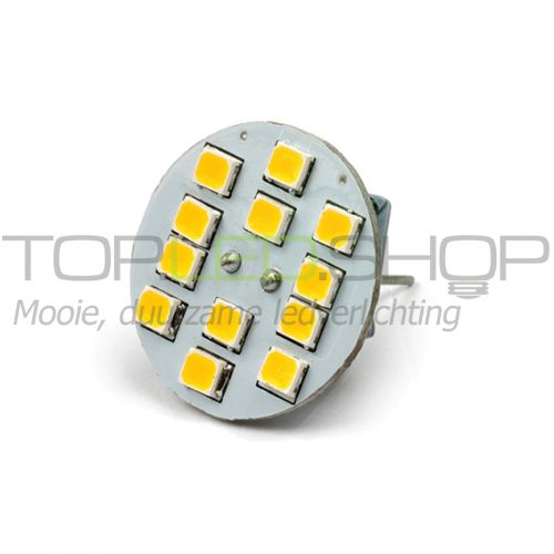 LED Lamp 12V, 1,8W, G4, Warmwit, vertikaal, dimbaar