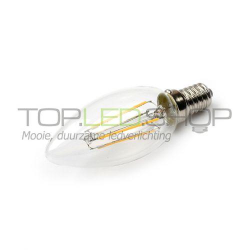 LED Lamp 230V, kaars, 3W, Filament, Warmwit, E14, helder