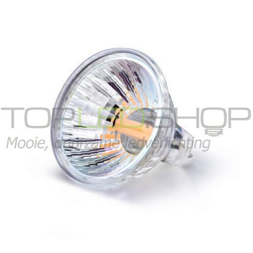 LED Lamp 12V, 2W, Warmwit, MR11, glas, dimbaar
