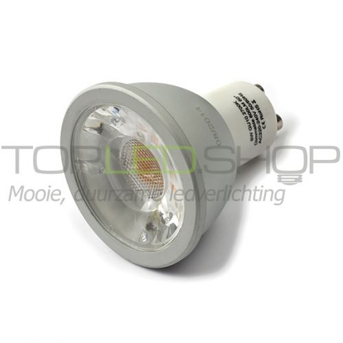 LED Lamp 230V, 6W, Wit-warmwit, GU10, dimbaar, CRI 90