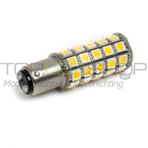 LED Lamp 12V, 5W, BAY15D, Wit, rond, dimbaar