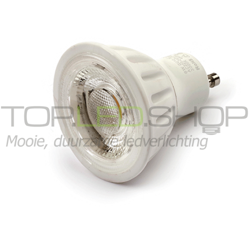 LED Lamp 230V, 6W, Wit-warmwit, GU10, dimbaar, ceramic