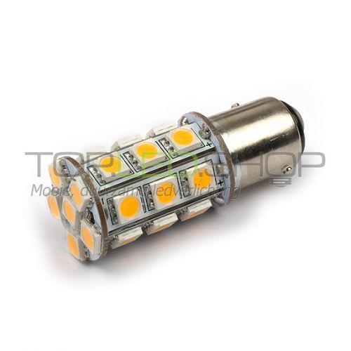 LED Lamp 12V, 3W, BA15S, Wit, rond, dimbaar