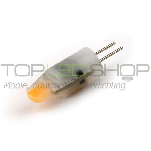 LED Lamp 12V, 1,2W, G4, Extra-warmwit, horizontaal, dimbaar, mat