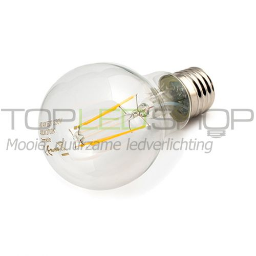 LED Lamp 230V, bol, 4W, Filament, Warmwit, E27, helder, dimbaar