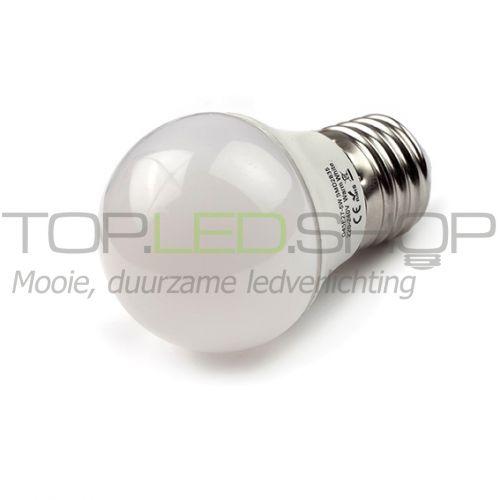 LED Lamp 230V, bol, 5W, Warmwit, E27, mat