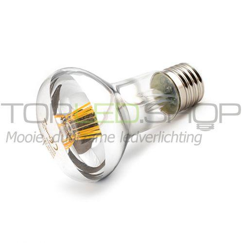 LED Lamp 230V, 7W, Filament, Warmwit, E27, reflector, dimbaar