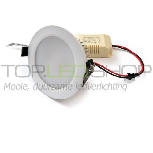 LED Downlighter 230V, 7W, Wit-warmwit, dimbaar