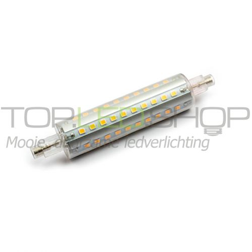 LED lamp 230V, 10W, R7S, Warmwit, dimbaar