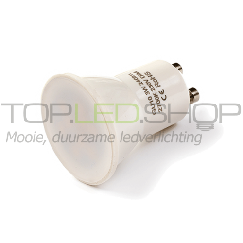 LED Lamp 230V, 3W, Warmwit, GU10, 35 mm, dimbaar