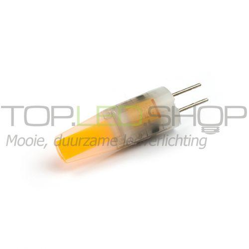LED Lamp 12V, 1,5W, G4, Warmwit, horizontaal, dimbaar, mat