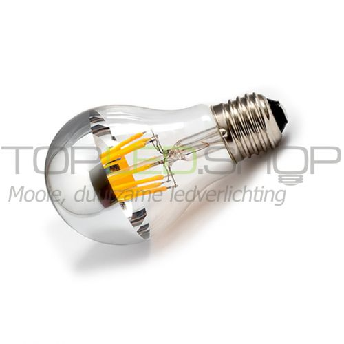 LED Lamp 230V, 6W, Filament, Extra-warmwit, E27, kopspiegel, dim