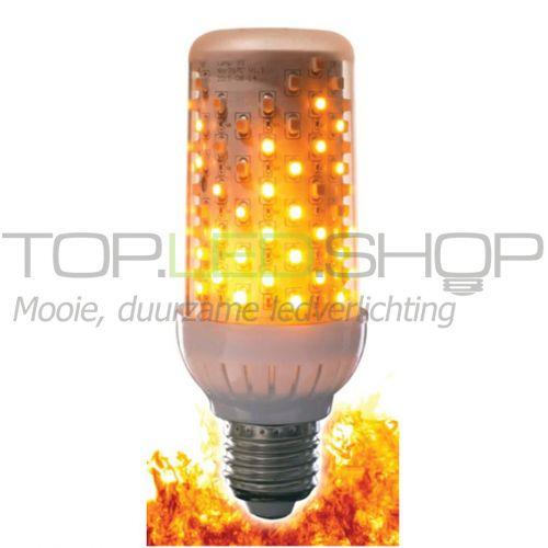 LED Lamp 230V, Fire, 4W, Warmwit, E27, mat