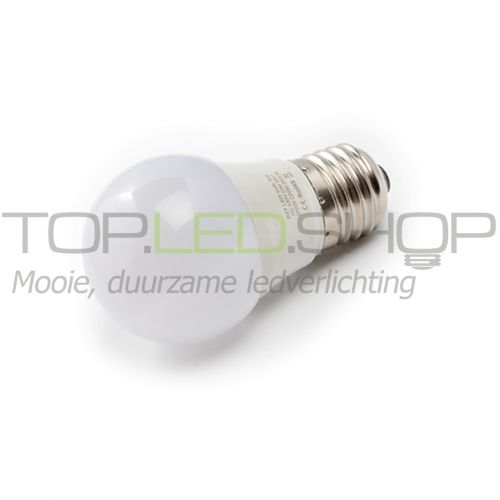 LED Lamp 230V, bol mat, 3W, Warmwit, E27, dimbaar