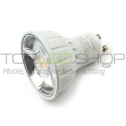 LED Lamp 230V, 8W, Warmwit, GU10, dimbaar, 20 graden