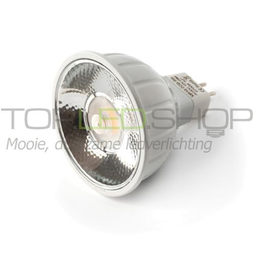 LED Lamp 12V, 8W, Warmwit, MR16, dimbaar, 10 graden