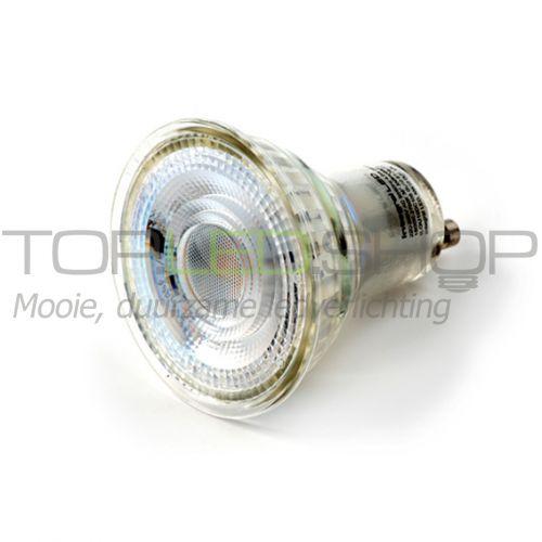 LED Lamp 230V, 5W, Duotone, GU10, dimbaar, glas