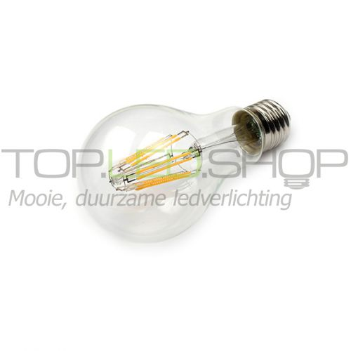 LED Lamp 230V, bol, 8W, Filament, Warmwit, E27, helder, dimbaar