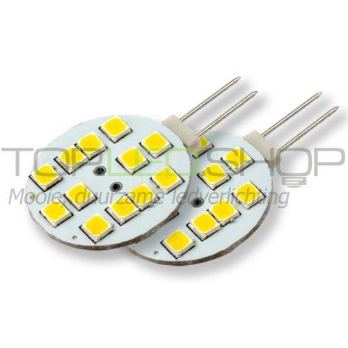 LED Lamp 12V, 1,8W, G4, Warmwit, horizontaal, dimbaar, 2x