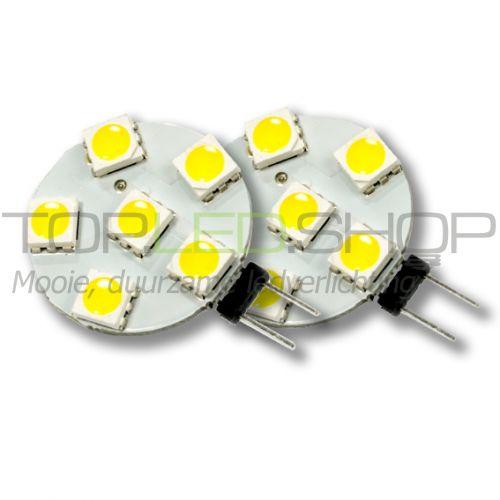 LED Lamp 12V, 1,2W, G4, Warmwit, horizontaal, dimbaar, 2x