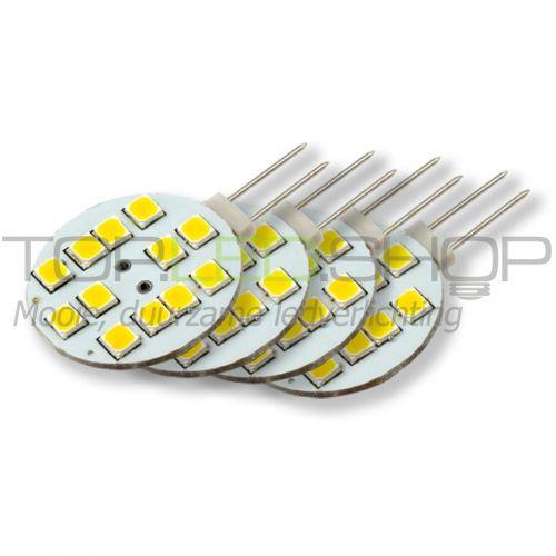 LED Lamp 12V, 1,8W, G4, Warmwit, horizontaal, dimbaar, 4x