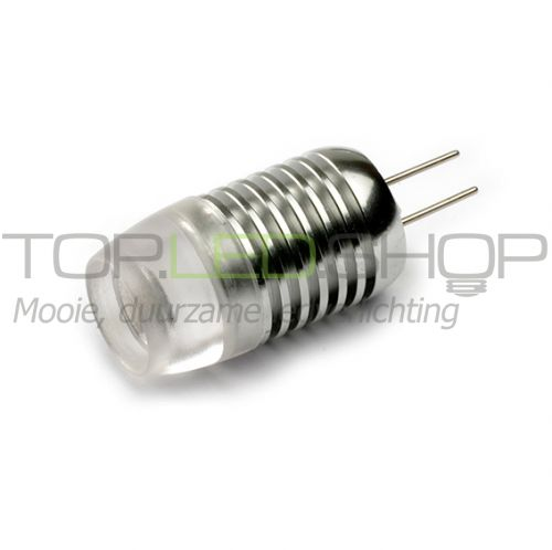 LED Lamp 12V, 2W, G4, Warmwit, zilver